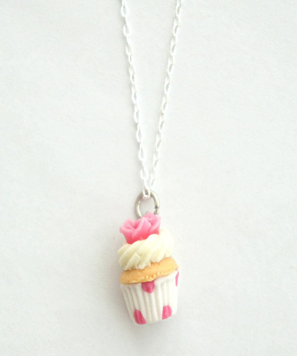 Vanilla Rose Cupcake Necklace - Jillicious charms and accessories - 2