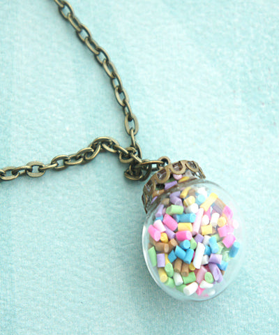 Candy Sprinkles Globe Necklace - Jillicious charms and accessories
