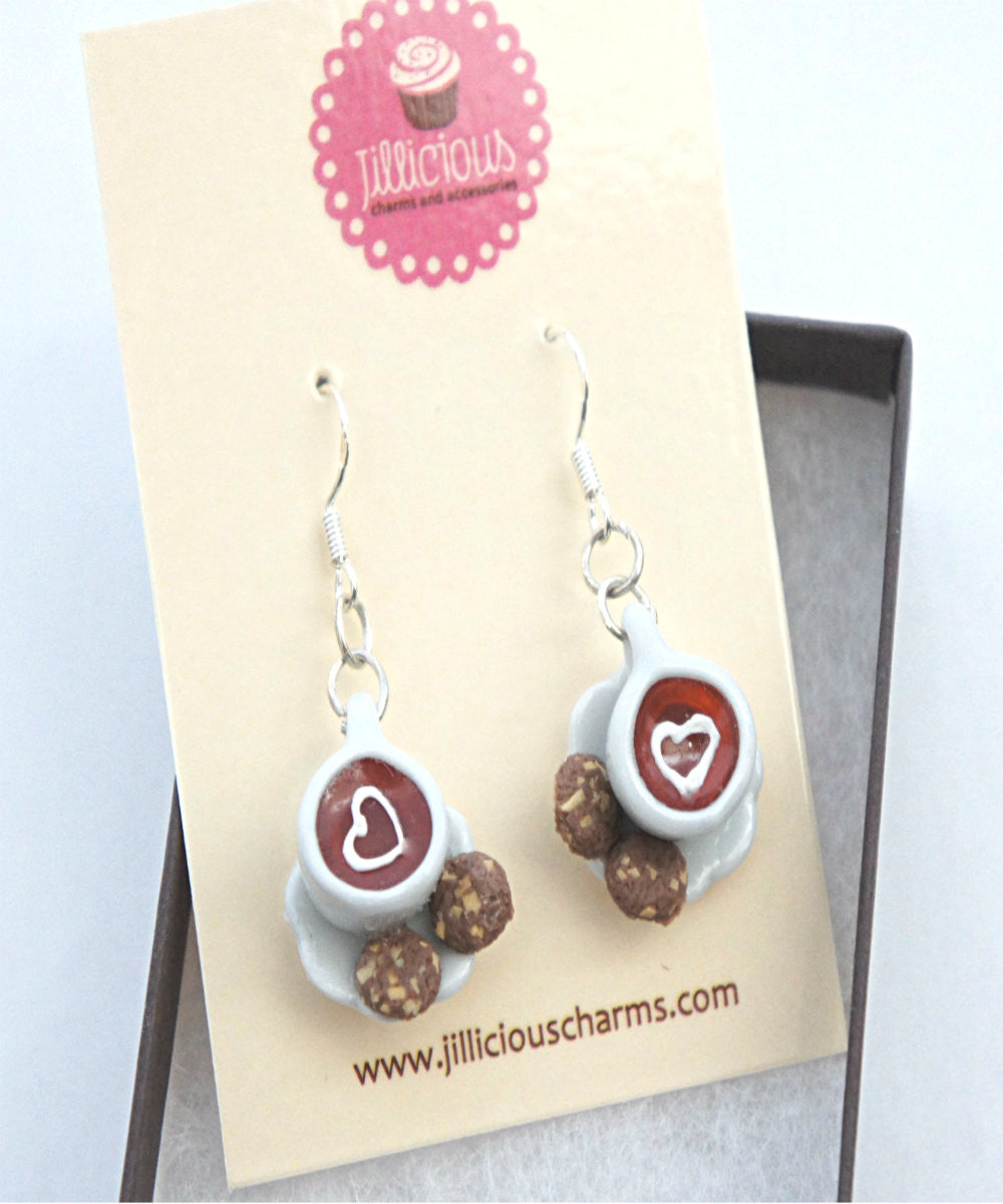 Tea Time Dangle Earrings - Jillicious charms and accessories - 1