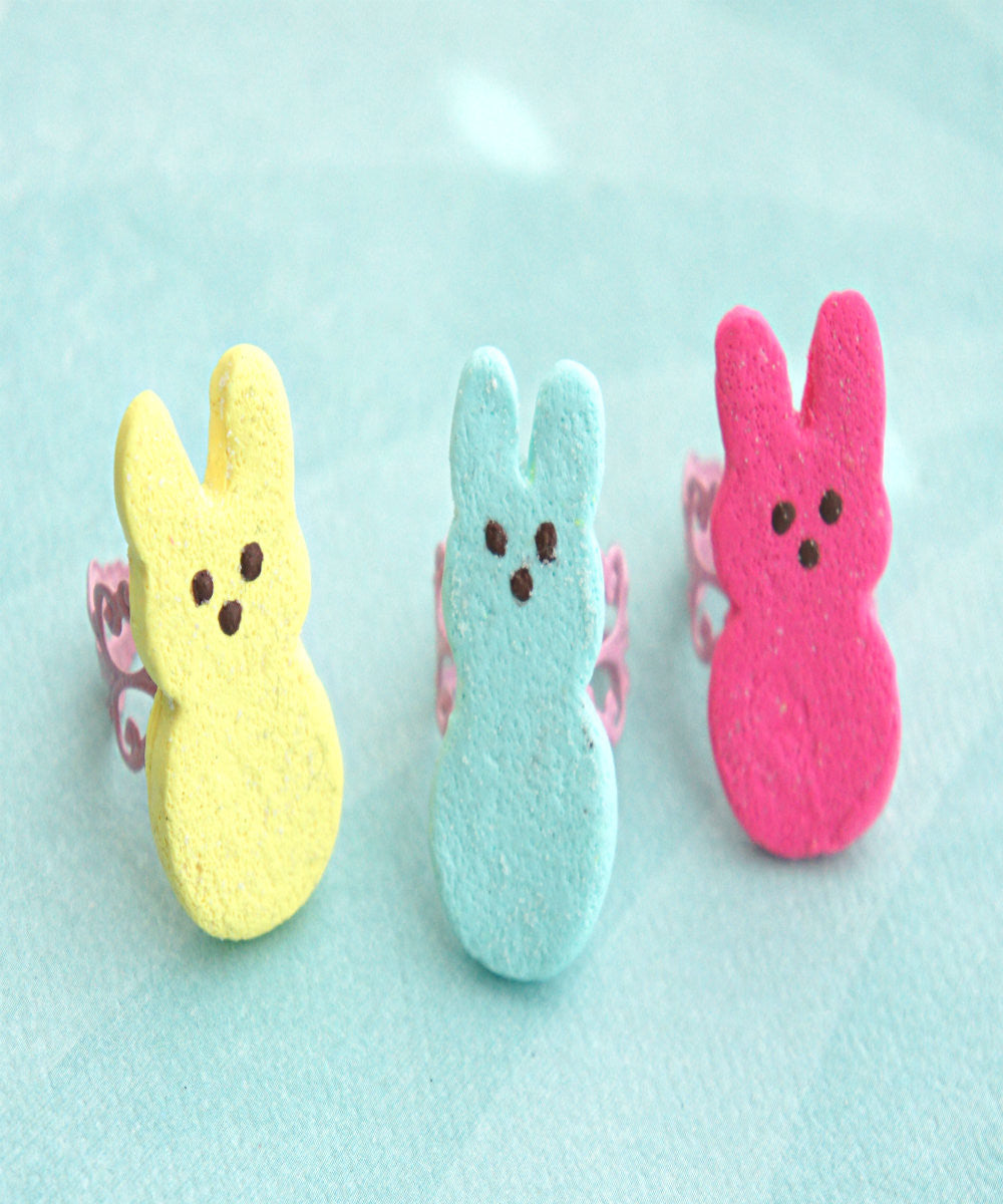 Marshmallow Bunny Ring - Jillicious charms and accessories