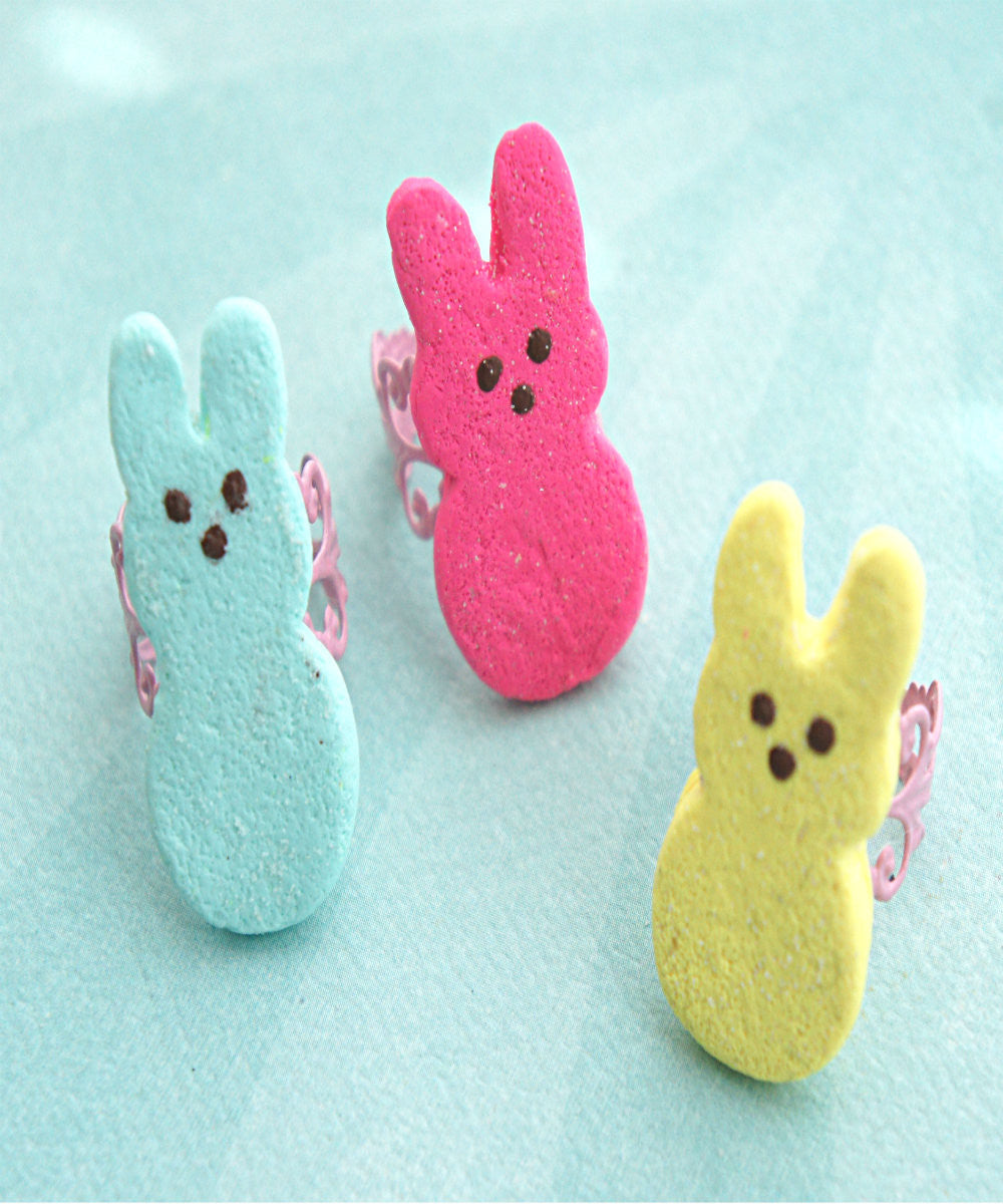 Marshmallow Bunny Ring - Jillicious charms and accessories - 2