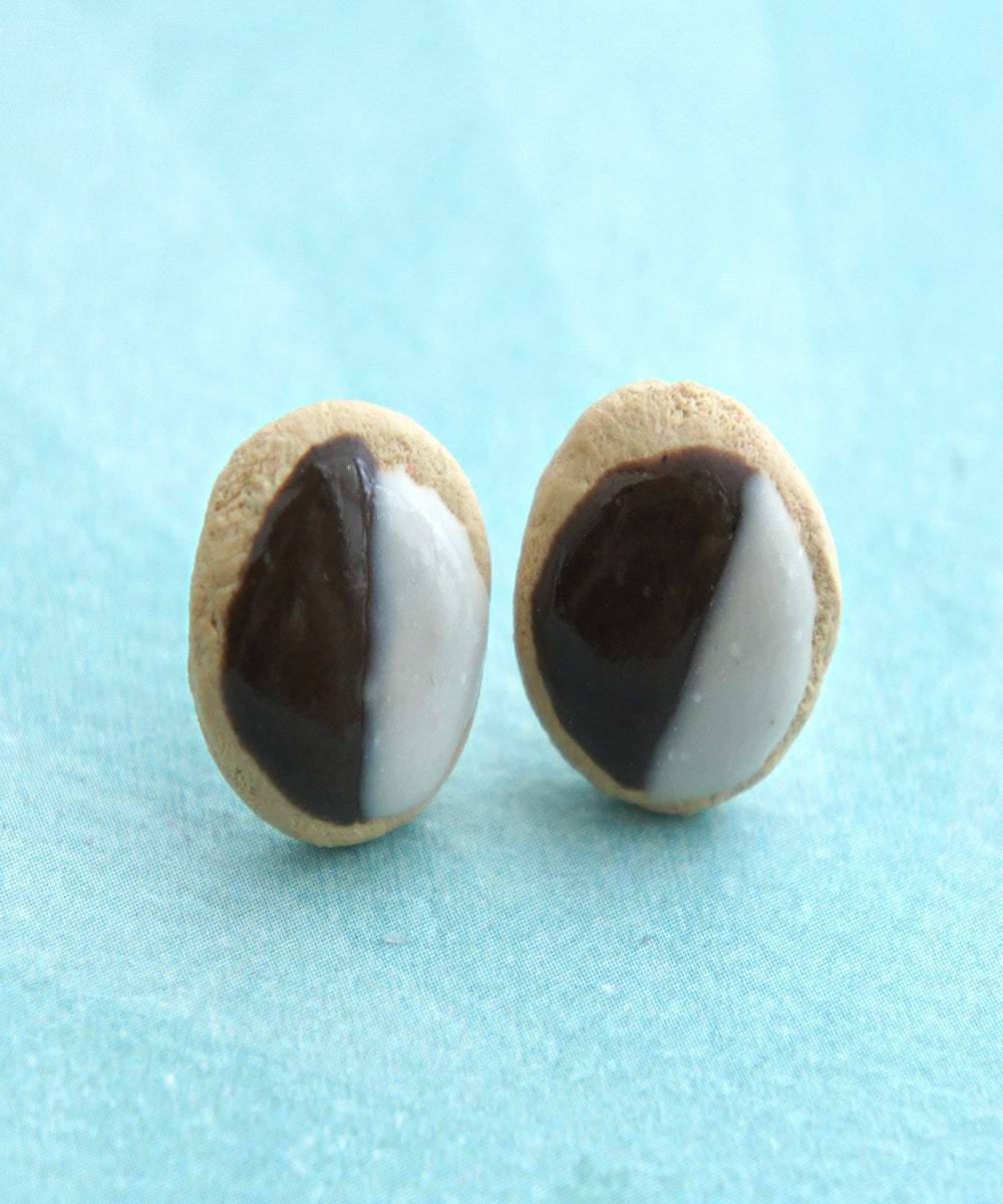Black and White Cookies Stud Earrings - Jillicious charms and accessories - 3