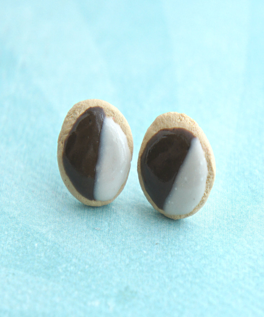 Black and White Cookies Stud Earrings - Jillicious charms and accessories - 4