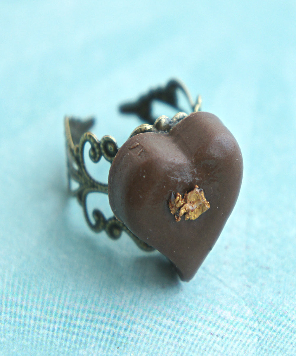 heart chocolate truffle ring - Jillicious charms and accessories - 3