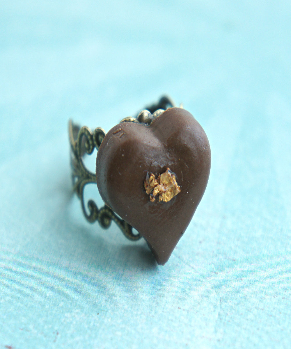heart chocolate truffle ring - Jillicious charms and accessories - 2