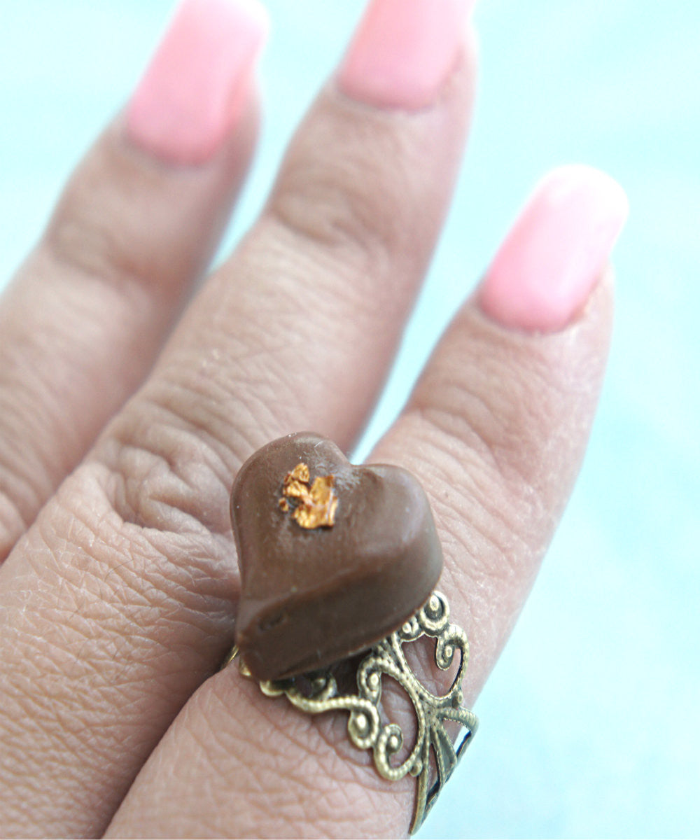 heart chocolate truffle ring - Jillicious charms and accessories