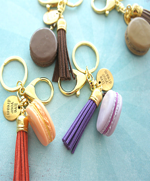french macaron keychain and bag charm - Jillicious charms and accessories