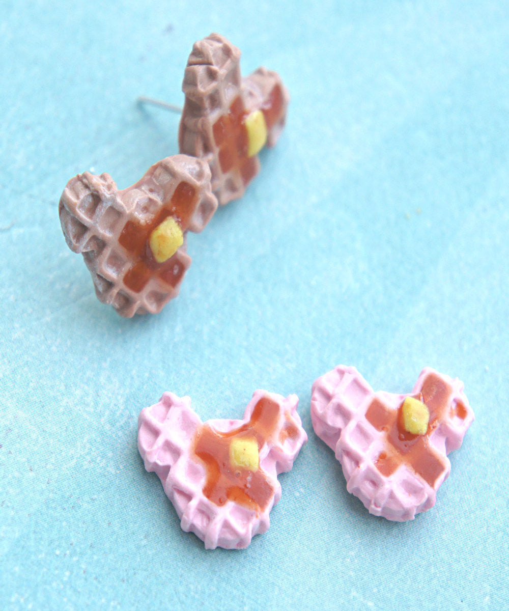 Mickey Waffle Earrings - Jillicious charms and accessories - 4