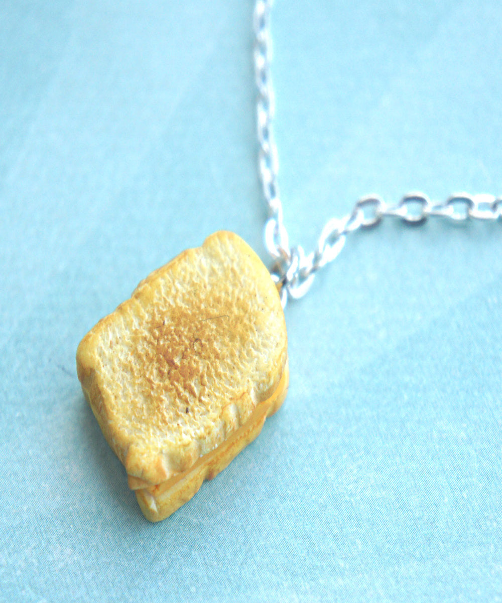 grilled cheese sandwich necklace - Jillicious charms and accessories - 2