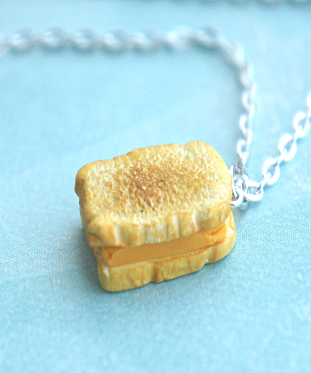 grilled cheese sandwich necklace - Jillicious charms and accessories - 3