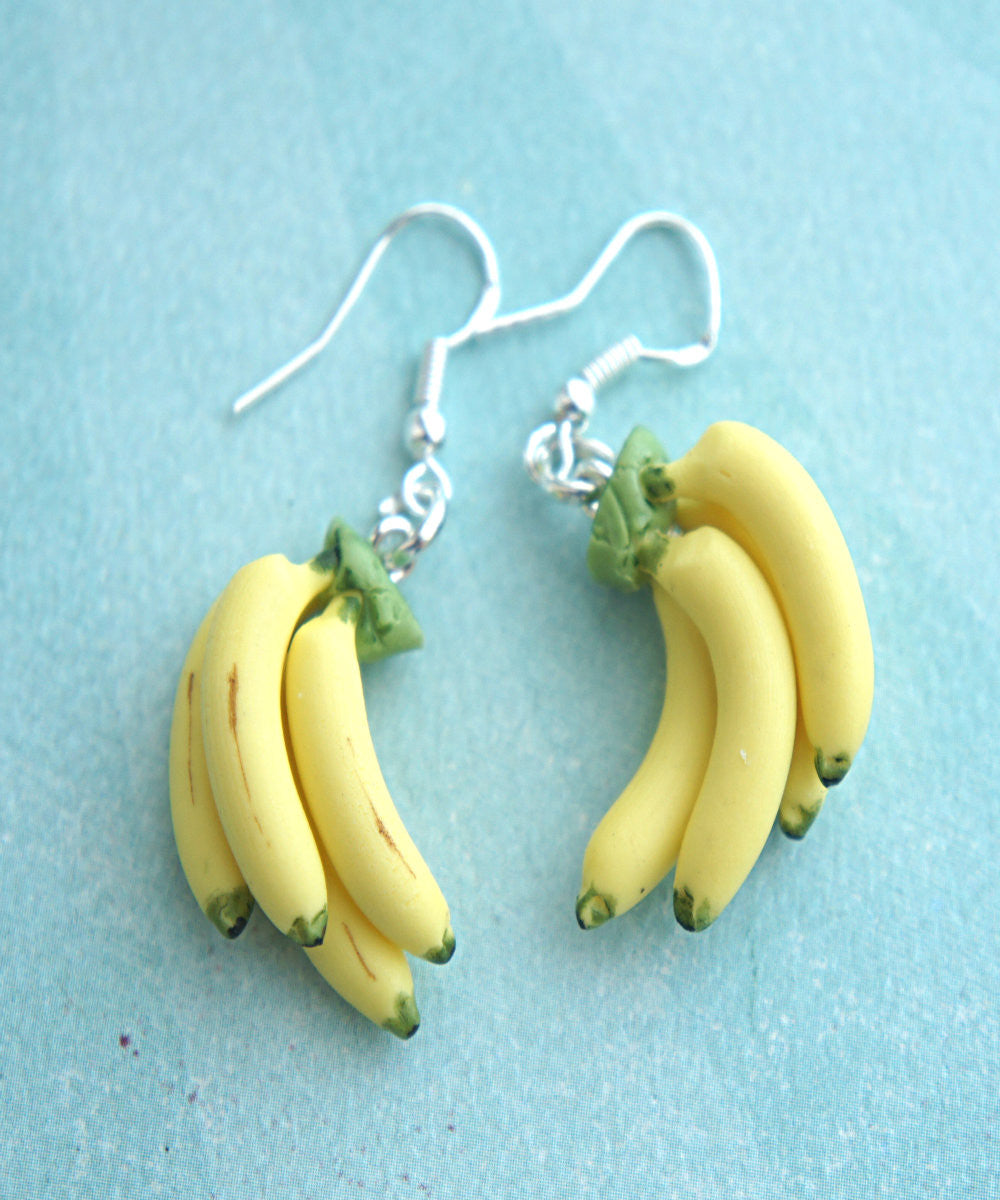 Banana Bunch Dangle Earrings - Jillicious charms and accessories