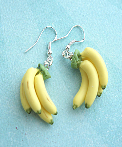 Banana Bunch Dangle Earrings - Jillicious charms and accessories - 1
