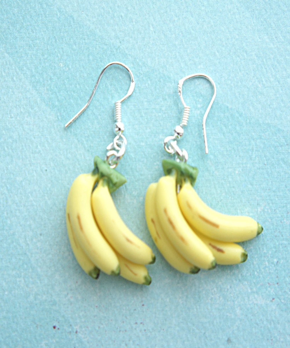 Banana Bunch Dangle Earrings - Jillicious charms and accessories - 2