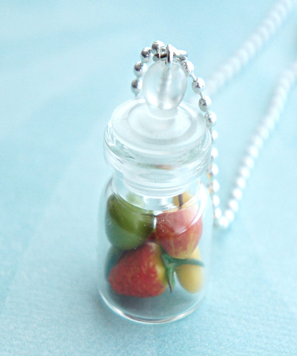 Mixed Fruits in a Jar Necklace - Jillicious charms and accessories