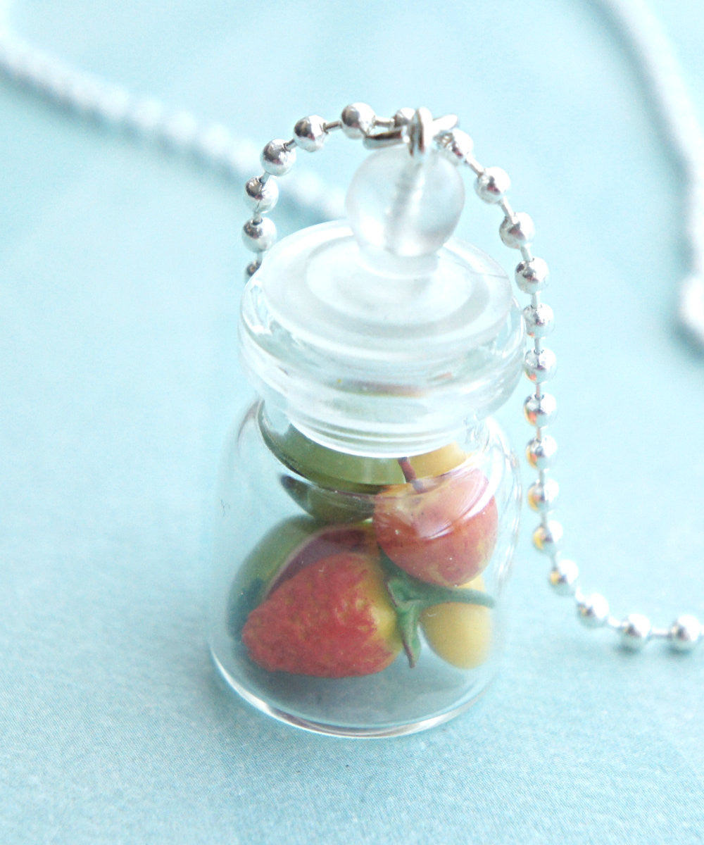 Mixed Fruits in a Jar Necklace - Jillicious charms and accessories - 1