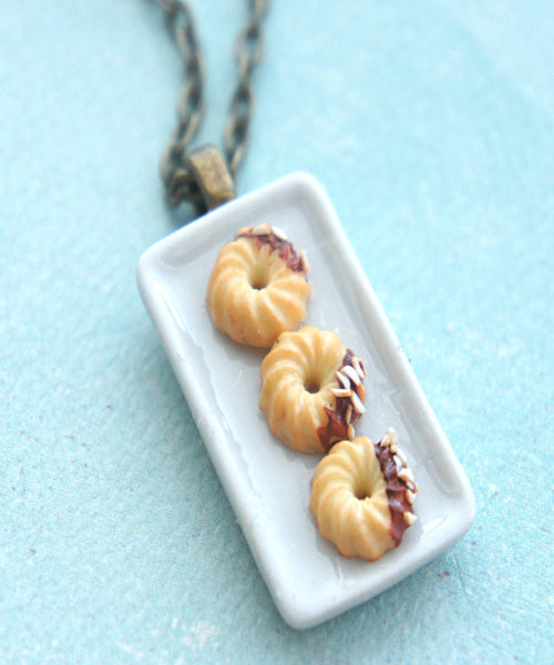 french cruller donuts necklace - Jillicious charms and accessories