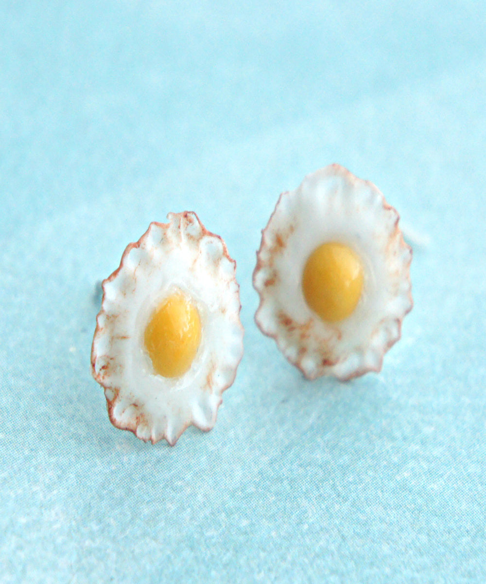fried egg stud earrings - Jillicious charms and accessories - 1