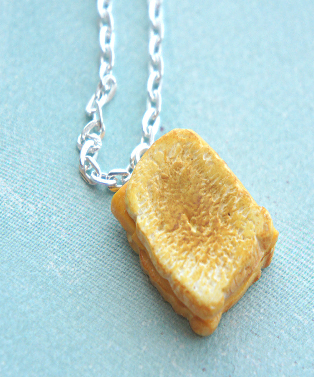 grilled cheese sandwich necklace - Jillicious charms and accessories - 1