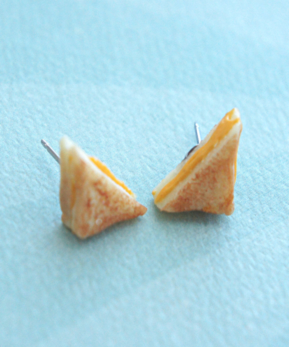 grilled cheese sandwich earrings - Jillicious charms and accessories - 2