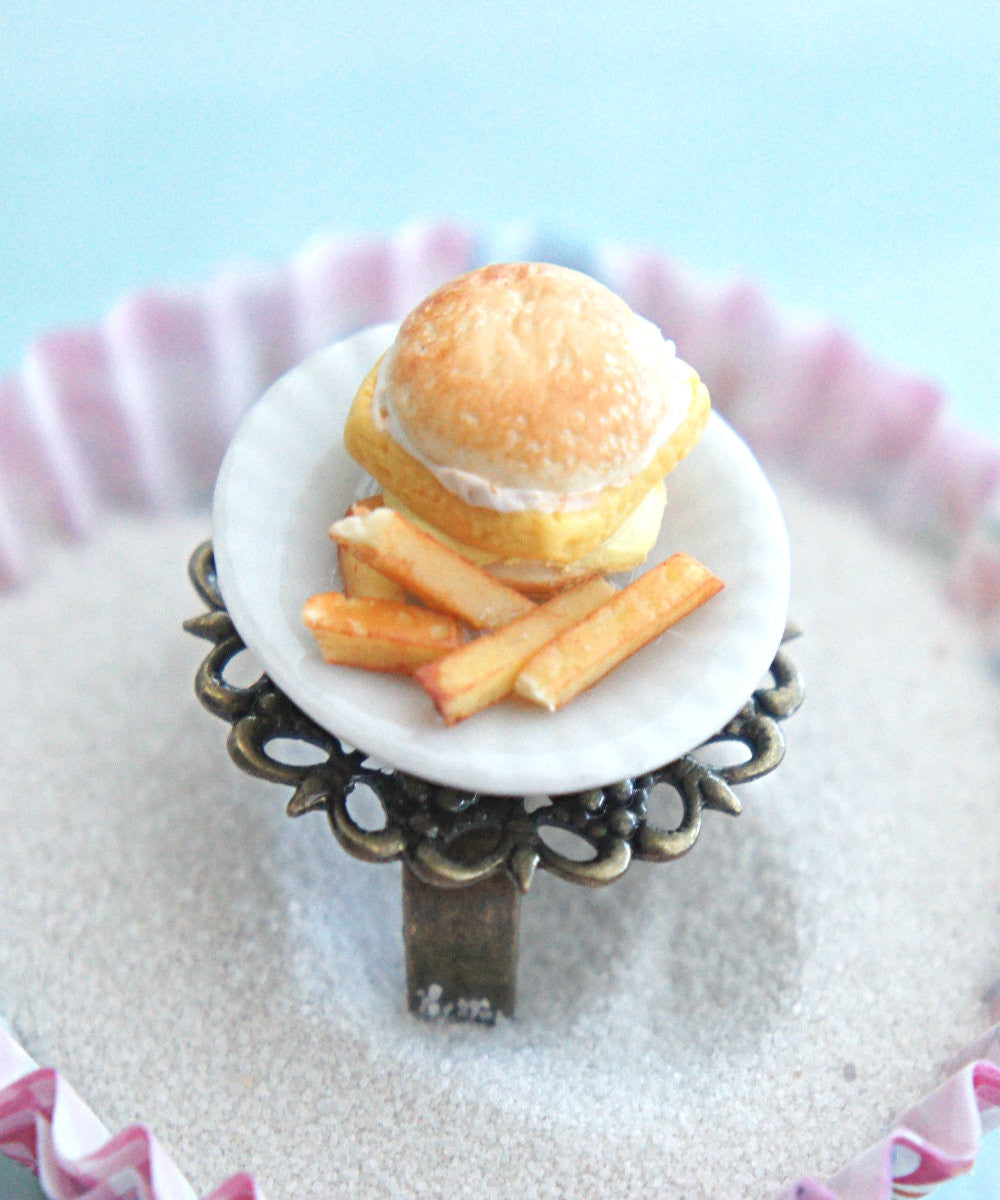 fish sandwich and fries plate ring - Jillicious charms and accessories
