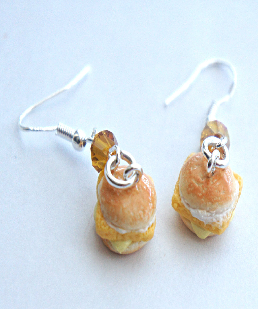 fish sandwich dangle earrings - Jillicious charms and accessories