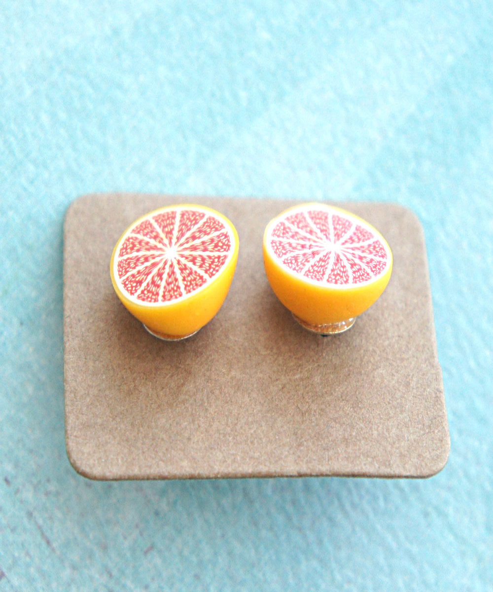 grapefruit stud earrings - Jillicious charms and accessories - 2