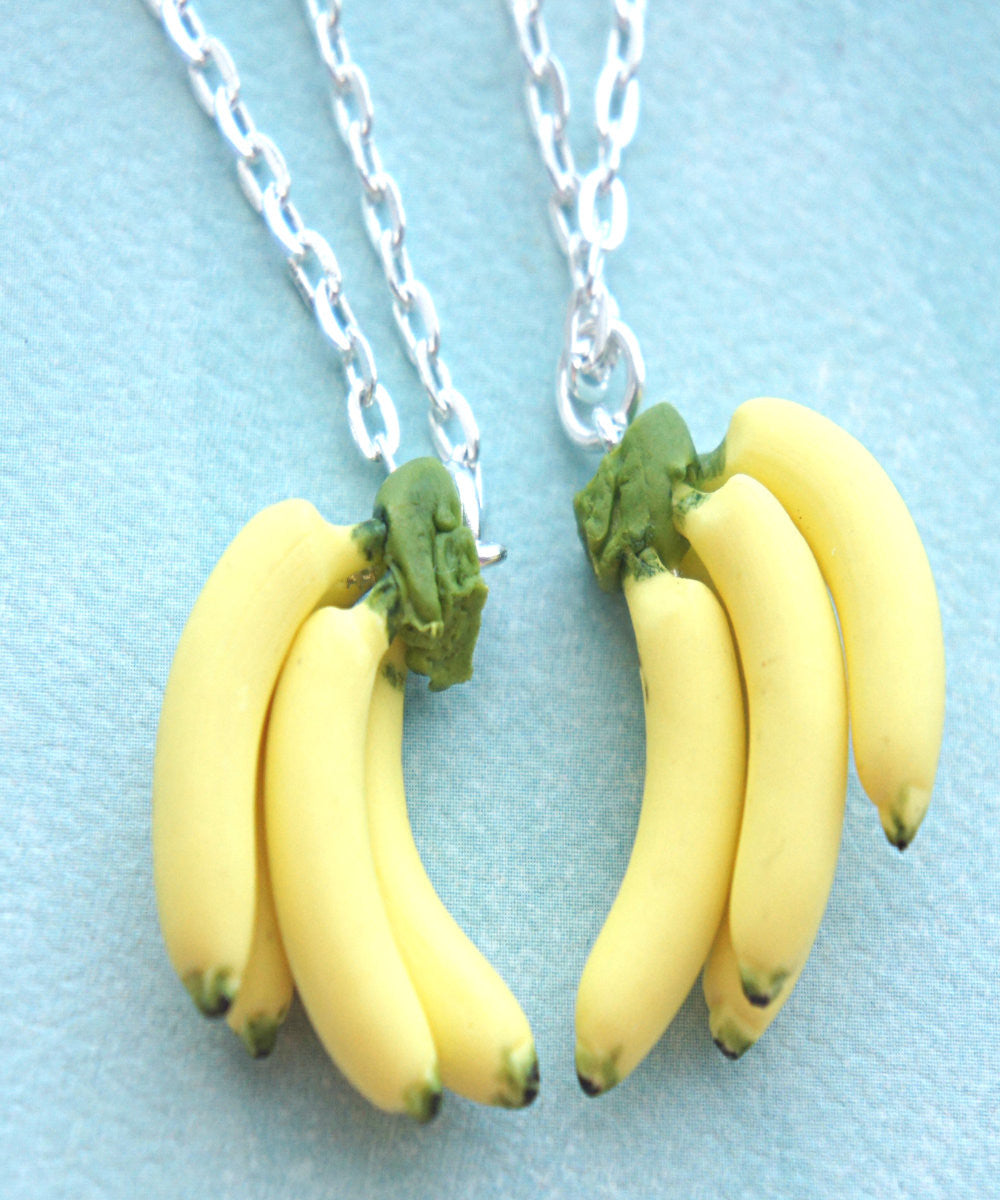 Banana Bunch Friendship Necklace Set - Jillicious charms and accessories - 1