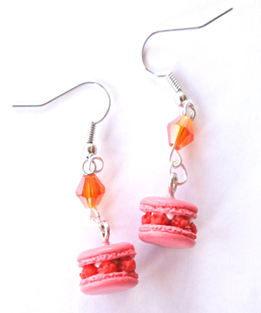 Raspberry Macarons Dangle Earrings - Jillicious charms and accessories - 2