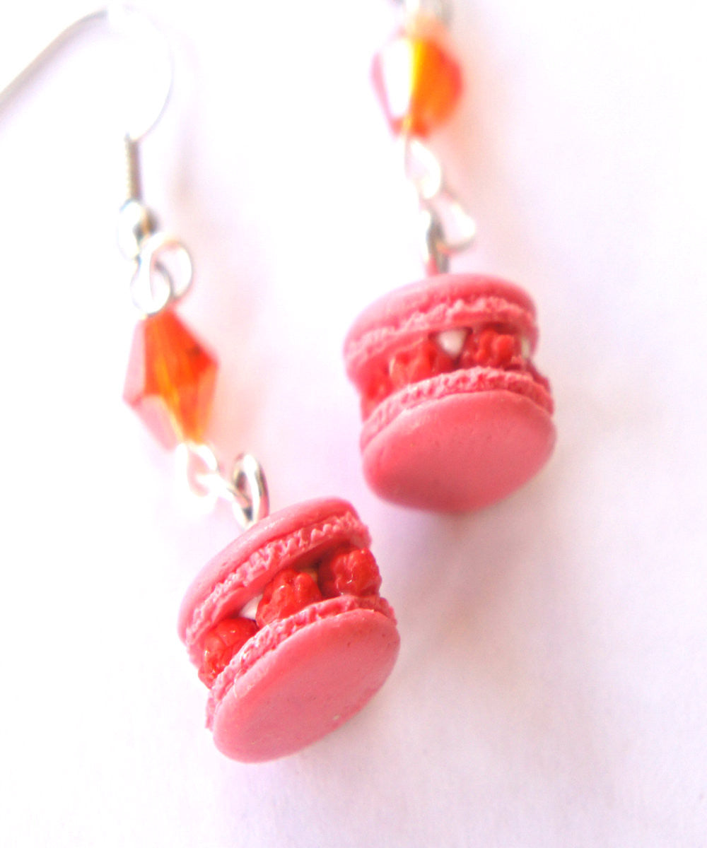 Raspberry Macarons Dangle Earrings - Jillicious charms and accessories - 4