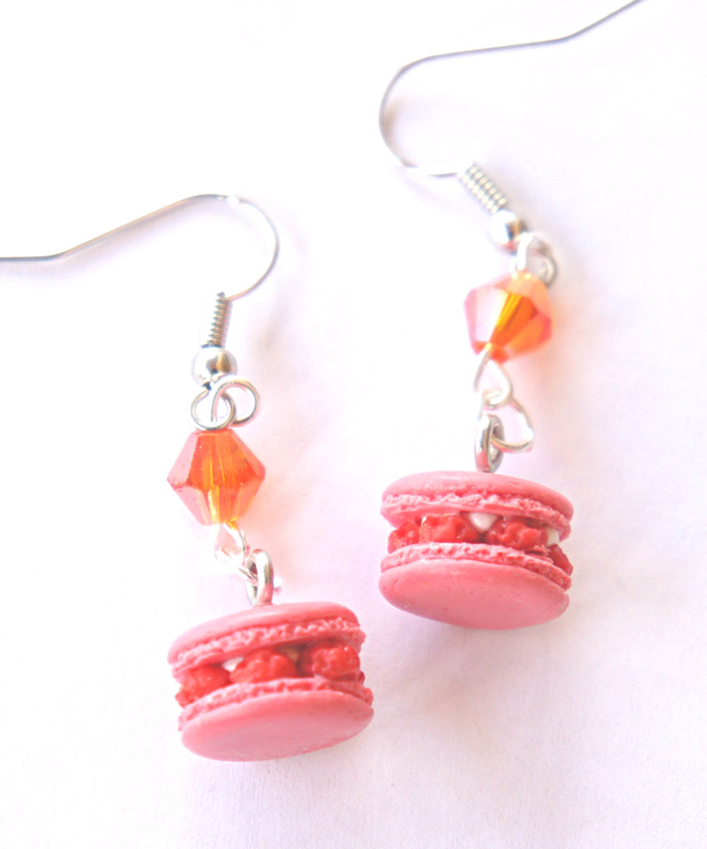 Raspberry Macarons Dangle Earrings - Jillicious charms and accessories - 3
