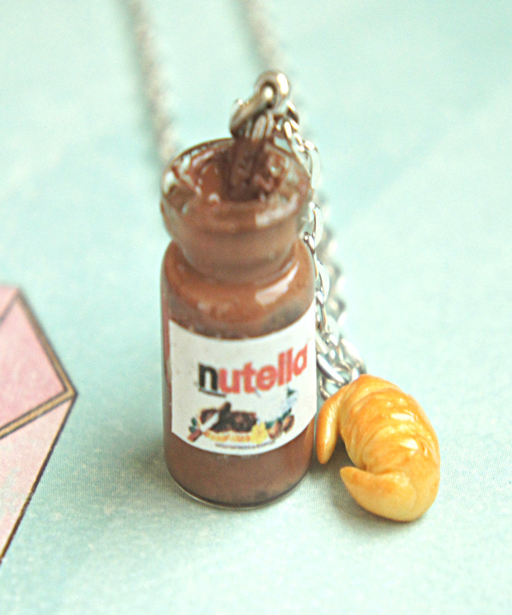 Nutella Jar and Croissant Necklace - Jillicious charms and accessories - 4