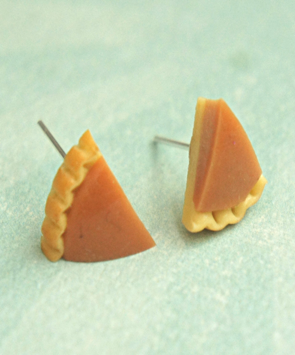 Pumpkin Pie Stud Earrings - Jillicious charms and accessories - 2