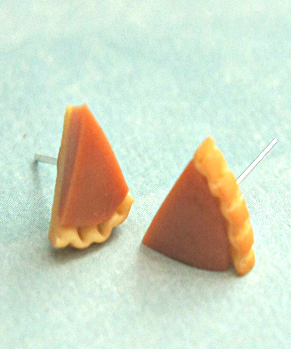 Pumpkin Pie Stud Earrings - Jillicious charms and accessories - 1