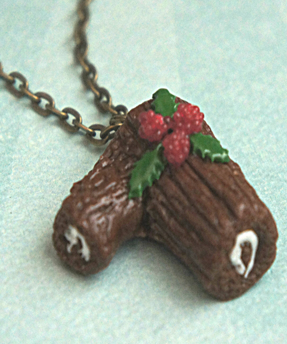 chocolate yule log necklace - Jillicious charms and accessories