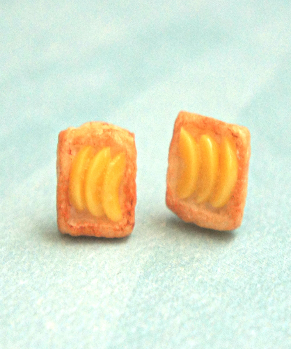 Peach Pastry Stud Earrings - Jillicious charms and accessories - 1