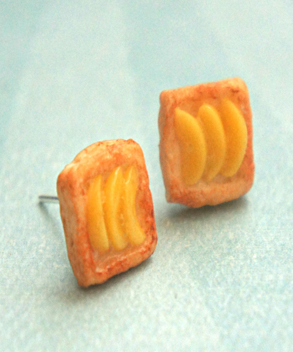 Peach Pastry Stud Earrings - Jillicious charms and accessories - 3