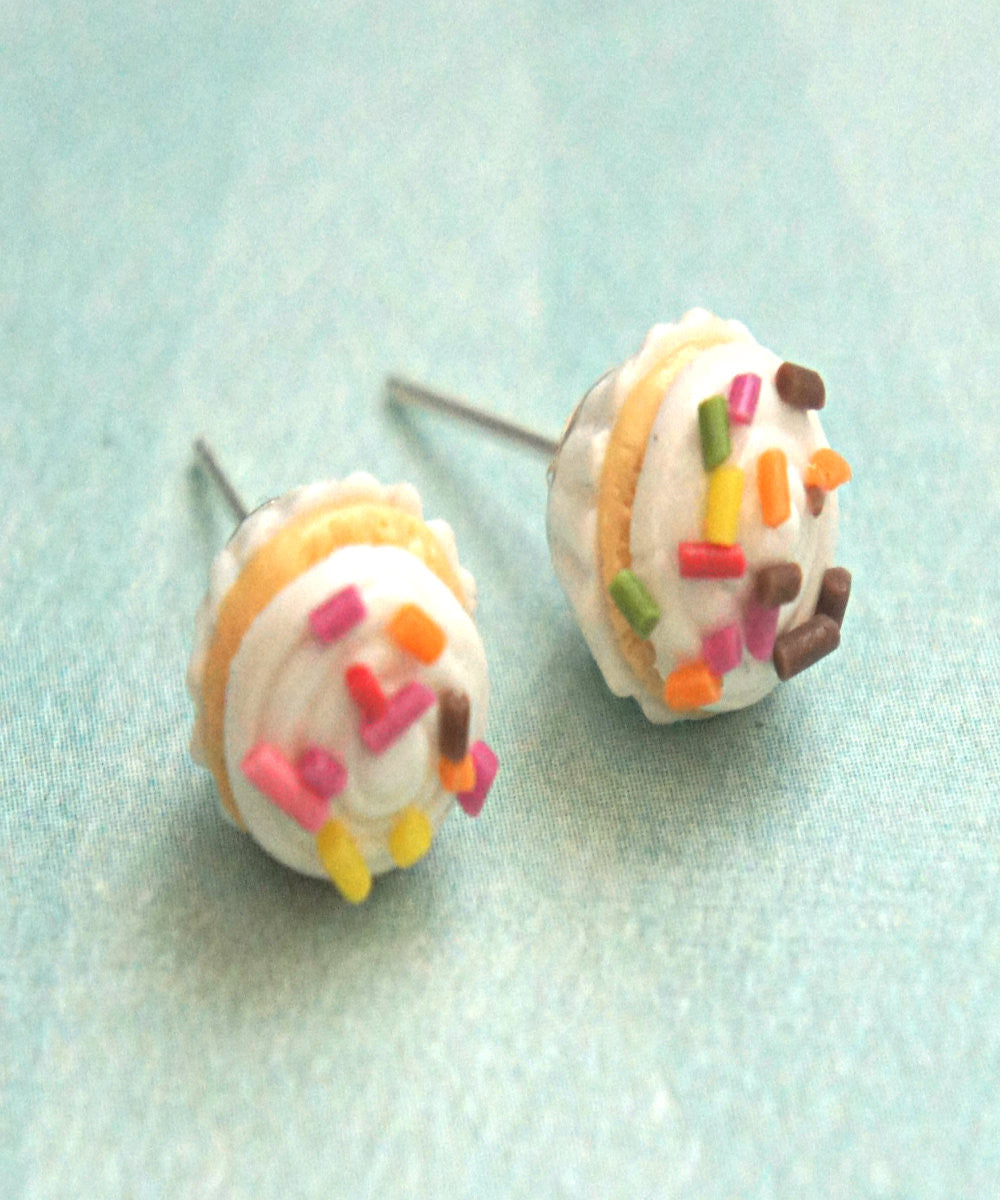 confetti cupcake stud earrings - Jillicious charms and accessories - 3