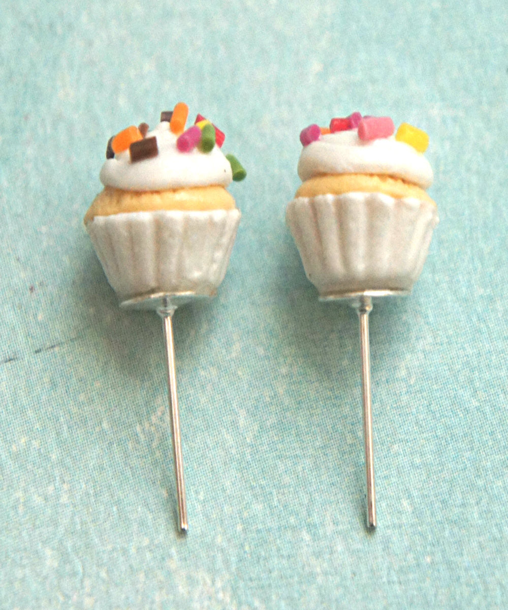 confetti cupcake stud earrings - Jillicious charms and accessories
