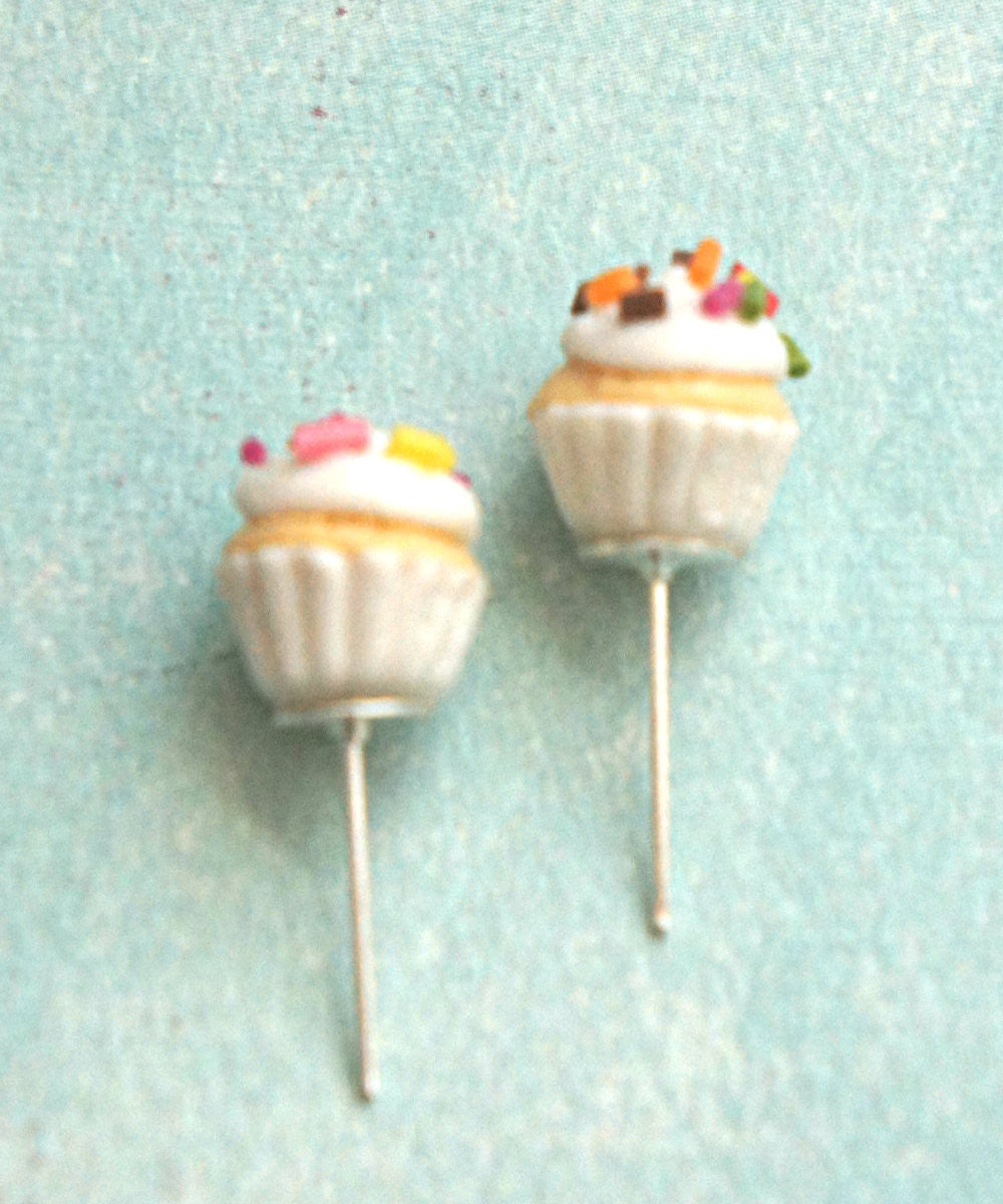 confetti cupcake stud earrings - Jillicious charms and accessories - 4