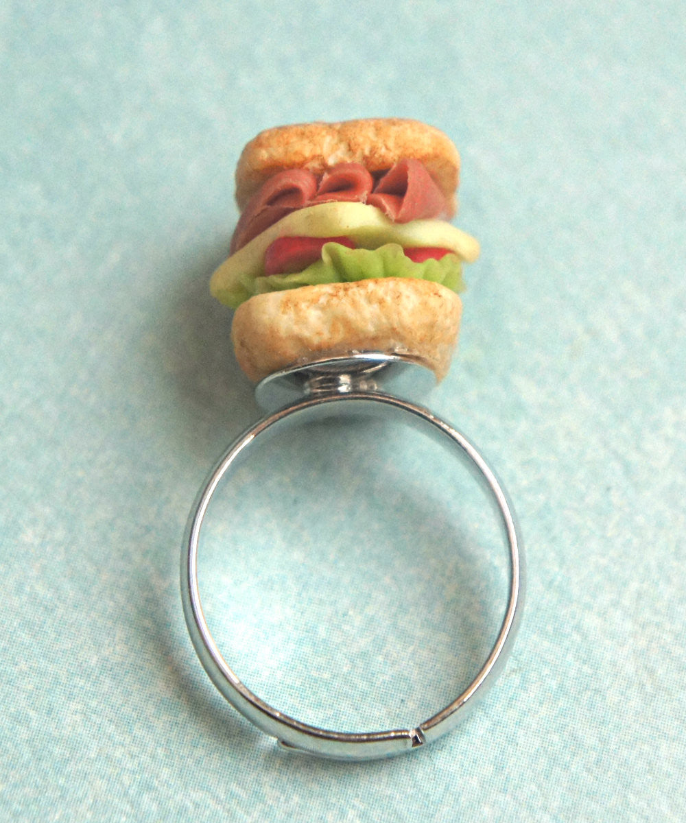 club sandwich ring - Jillicious charms and accessories