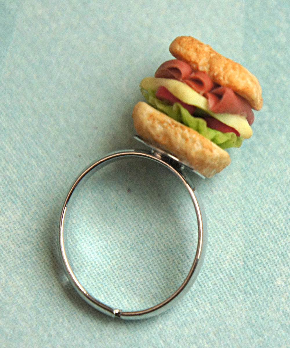 club sandwich ring - Jillicious charms and accessories - 3