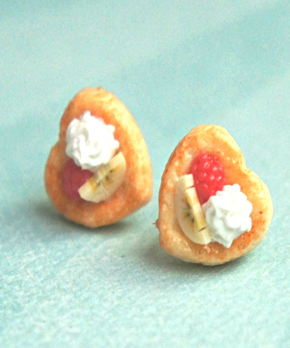 Raspberry Banana Pastry Stud Earrings - Jillicious charms and accessories