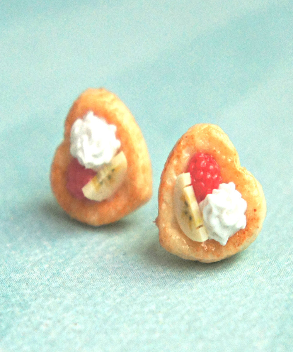 Raspberry Banana Pastry Stud Earrings - Jillicious charms and accessories - 3