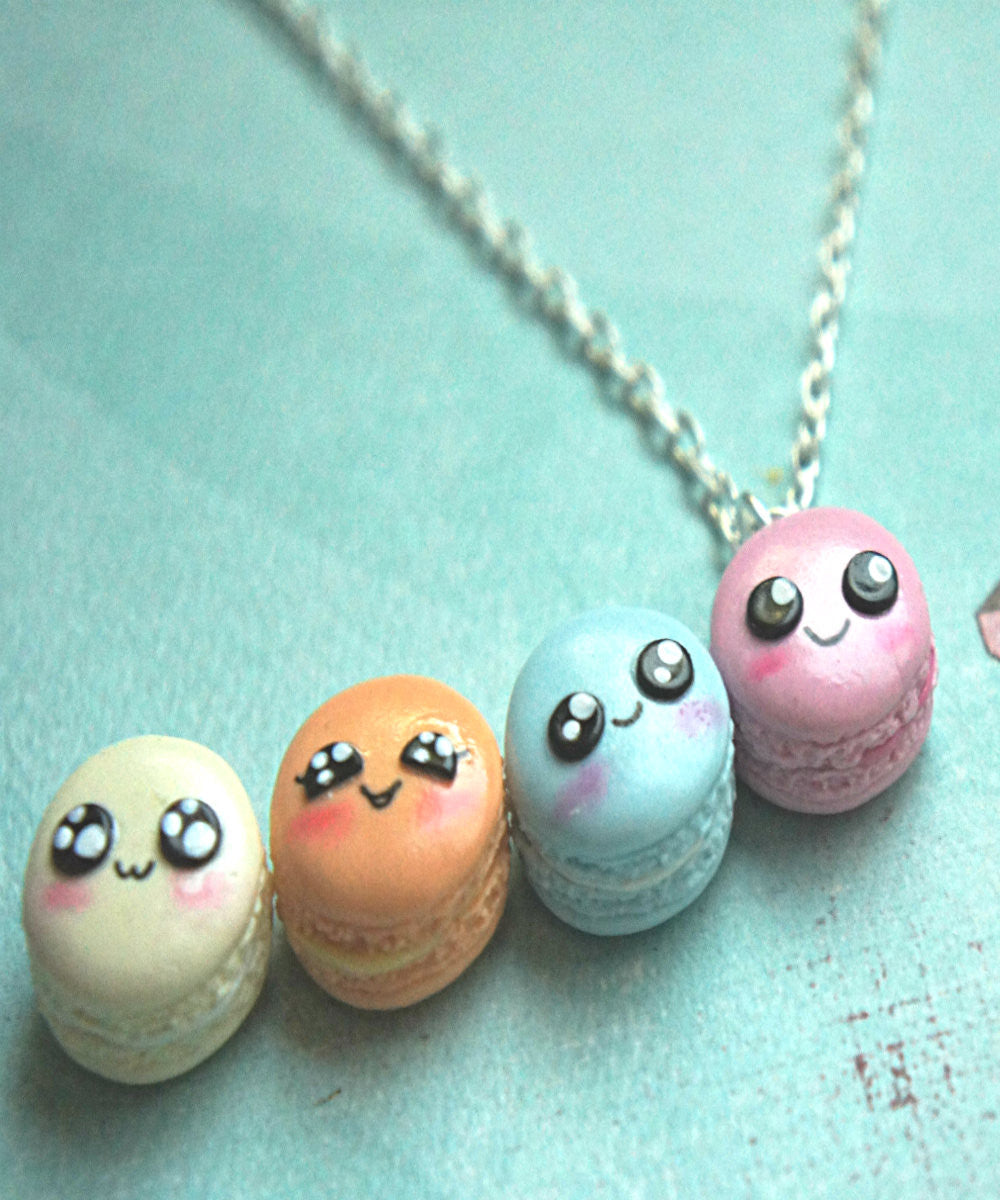Kawaii French Macaron Necklace - Jillicious charms and accessories