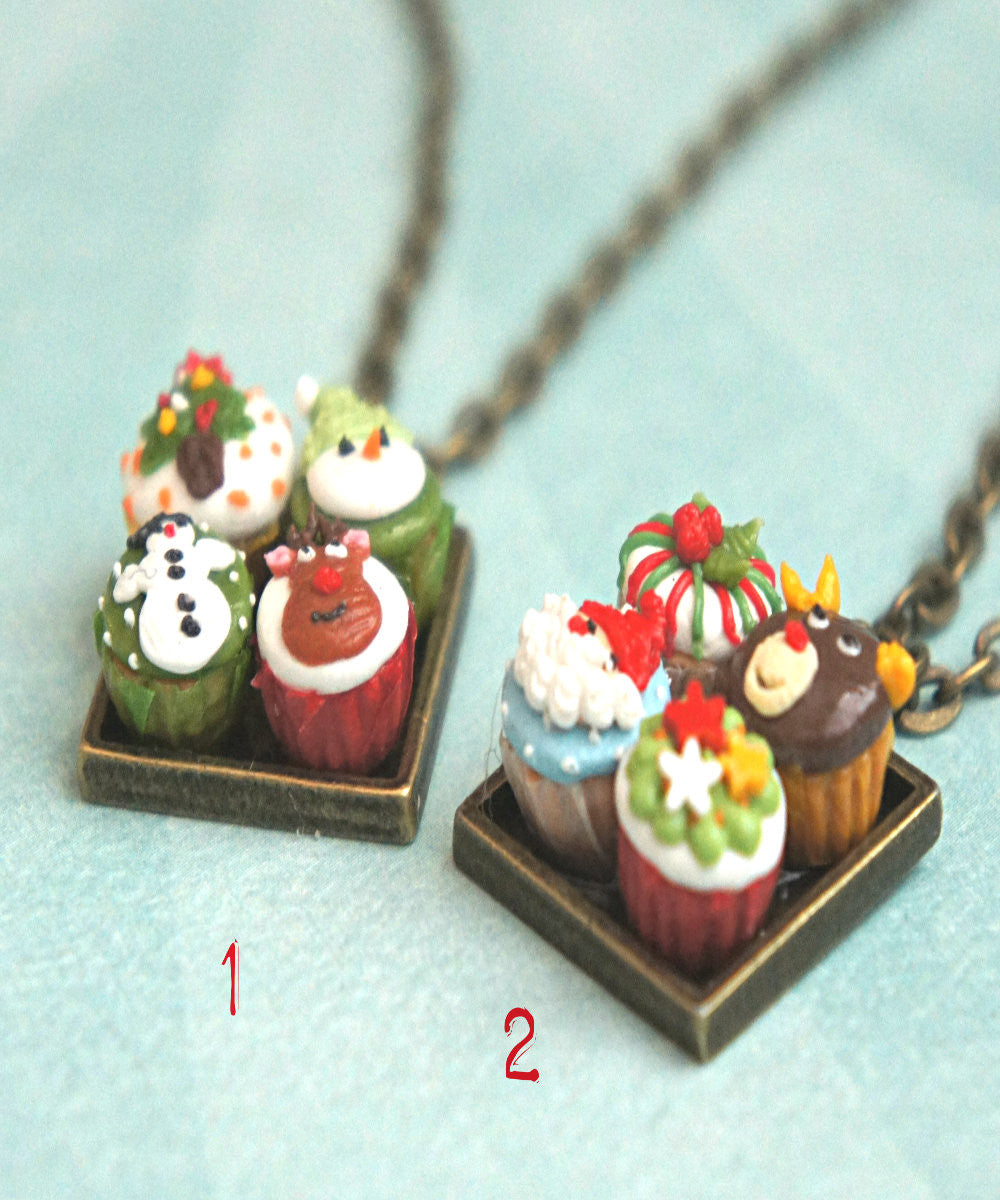 Christmas cupcakes necklace - Jillicious charms and accessories - 2
