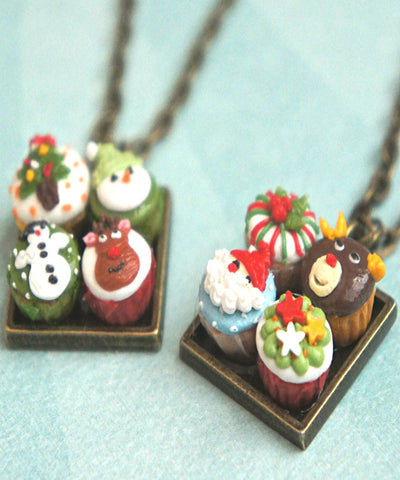 Christmas cupcakes necklace - Jillicious charms and accessories
