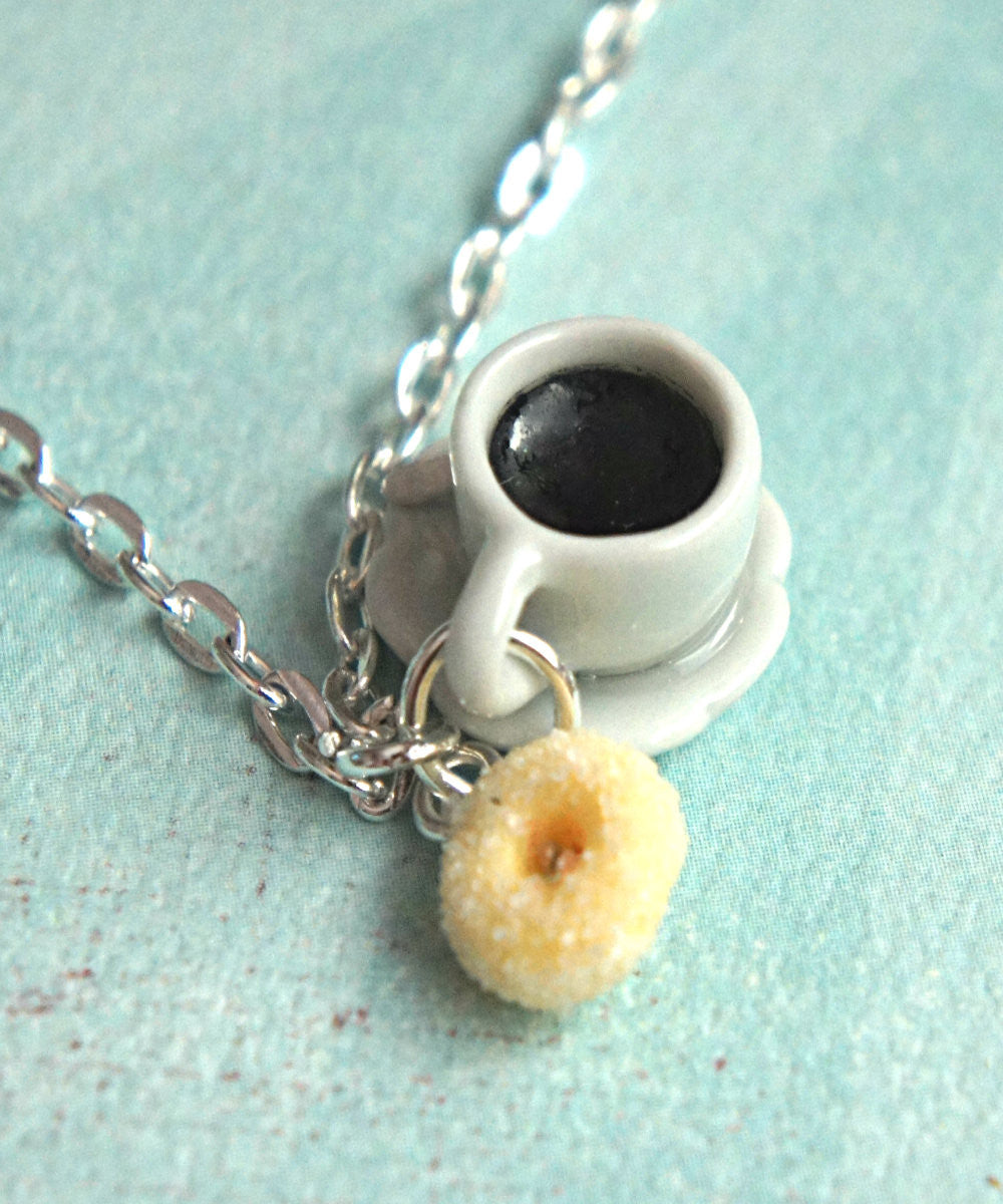 Sugar Donut and Coffee Necklace - Jillicious charms and accessories - 2