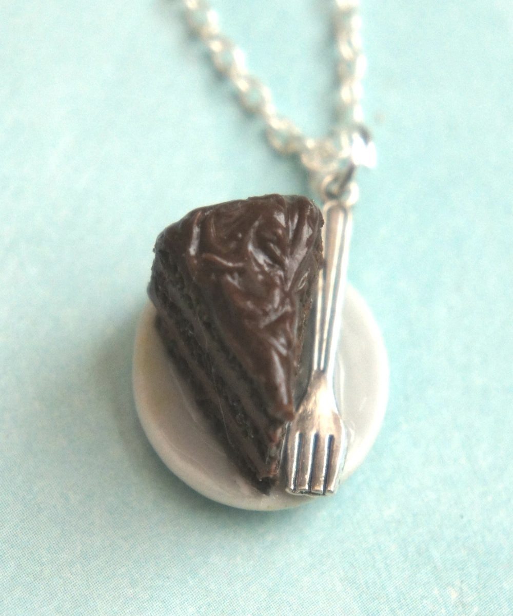 Chocolate Cake Necklace - Jillicious charms and accessories