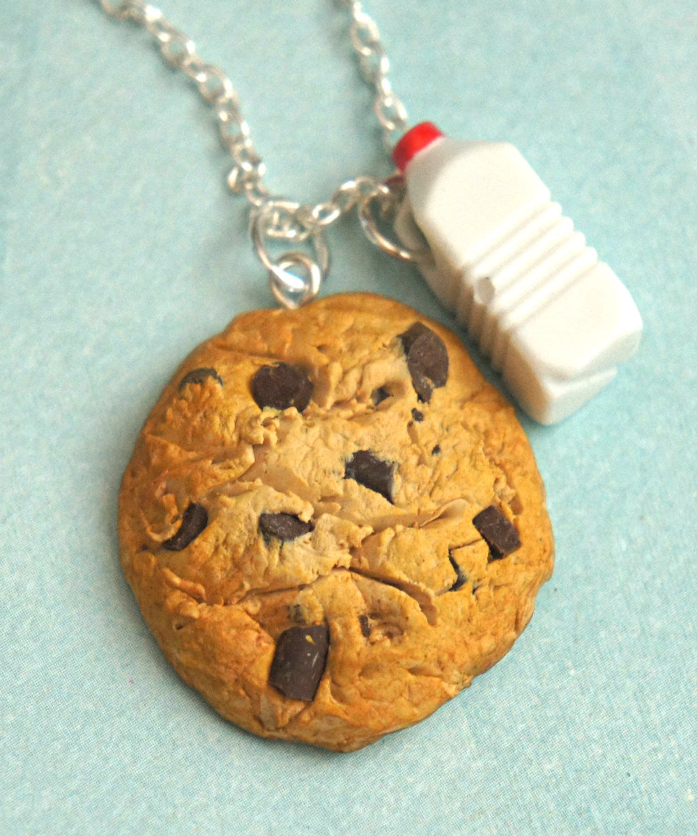 cookie and milk necklace - Jillicious charms and accessories