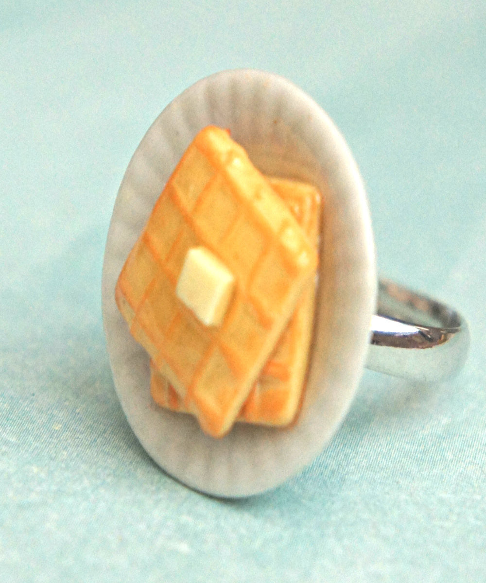 Breakfast Waffles Ring - Jillicious charms and accessories